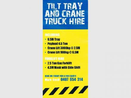 Mark Cecil, Tilt Tray & Crane Hire