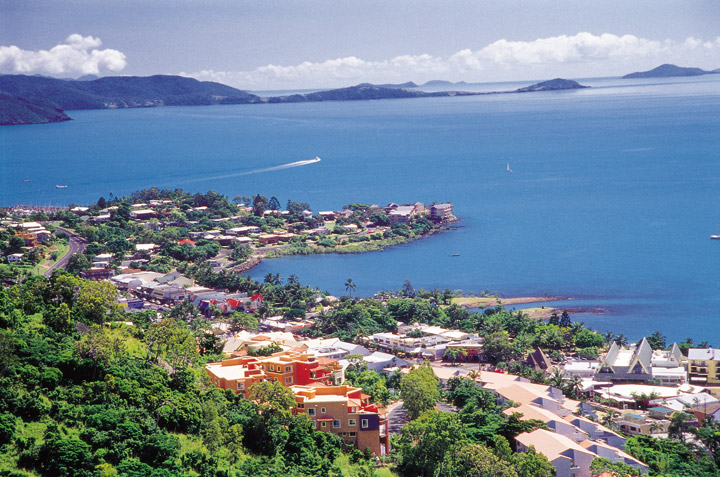 Aerial view of Airlie Beach - Picture Tour