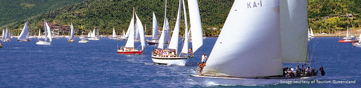 Boat fleet Whitsundays harbour