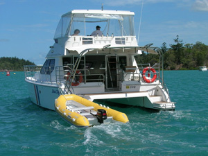 Whitsunday luxury motor boat