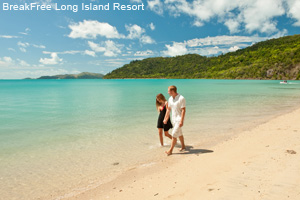 Long Island Resort Couple Walking Beach