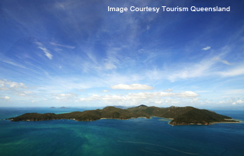 aerial of the whitsunday island