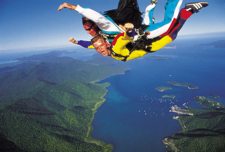 Sky Diving at Shute Harbour